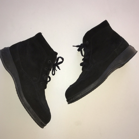 617b184018 Hogan Shoes | Black Suede Leather Laceup Chukka Boots Shoe | Poshmark